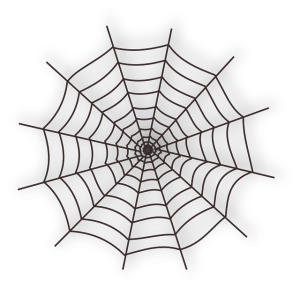 Fear of food spiders web